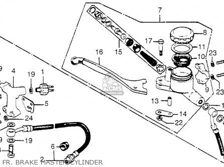 Honda Cb750 750 Four 1976 Cb750k6 Usa Fr  Brake Master Cylinder