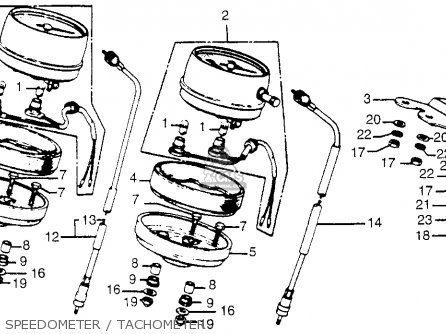 Honda Cb750 750 Four 1976 Cb750k6 Usa Speedometer   Tachometer
