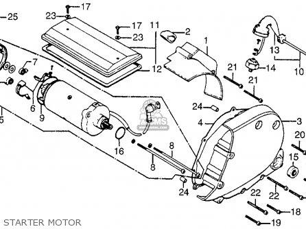 Honda Cb750 750 Four 1976 Cb750k6 Usa Starter Motor