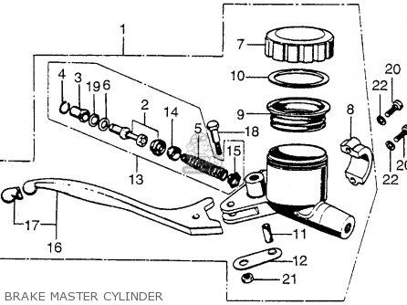Honda Cb750 Four K4 1974 Usa Brake Master Cylinder