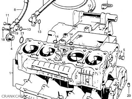 Honda Cb750 Four K4 1974 Usa Crankcase