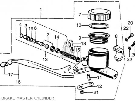 Honda Cb750 Four K4 Usa Brake Master Cylinder