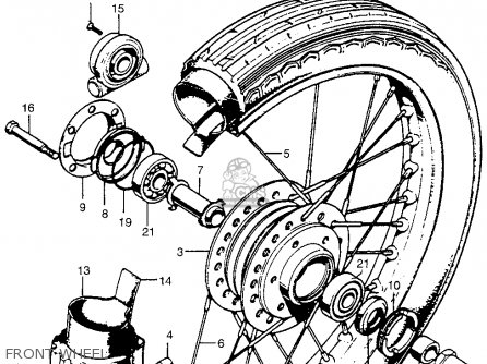 Honda Cb750 Four K4 Usa Front Wheel on wiring diagram for 1974 honda cb550