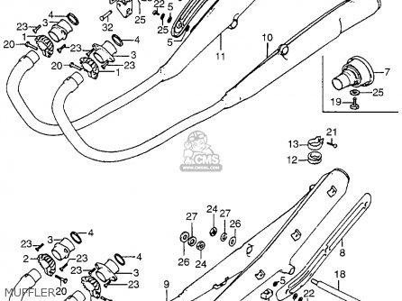 Honda Cb750 Four K4 Usa Muffler