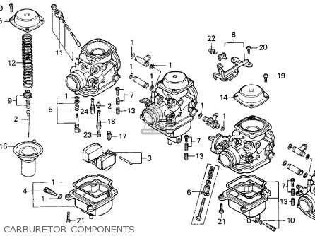 Honda Cb750 Nighthawk 1991 m Usa Carburetor Components
