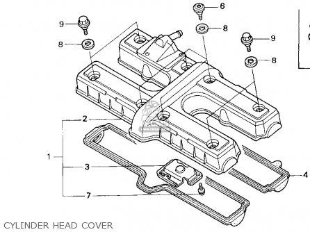Honda Cb750 Nighthawk 1991 m Usa Cylinder Head Cover