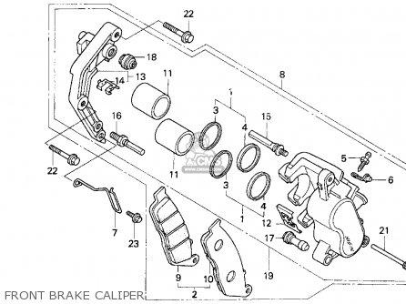 Honda Cb750 Nighthawk 1991 m Usa Front Brake Caliper