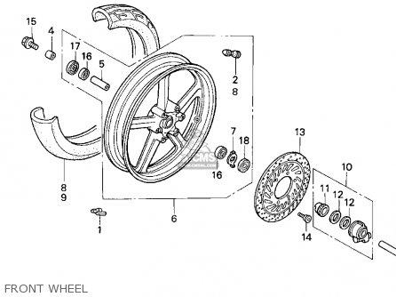 Honda Cb750 Nighthawk 1991 m Usa Front Wheel