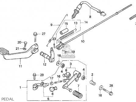 Honda Cb750 Nighthawk 1991 m Usa Pedal