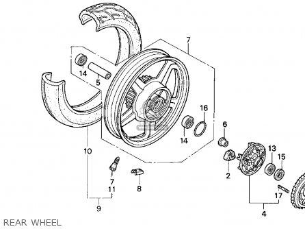 Honda Cb750 Nighthawk 1991 m Usa Rear Wheel