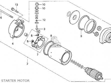 Honda Cb750 Nighthawk 1991 m Usa Starter Motor