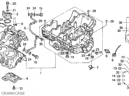 Honda Cb750 Nighthawk 1991 Usa Crankcase