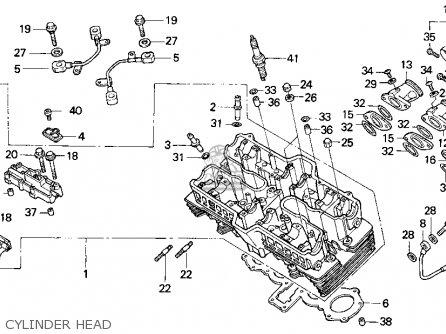 Honda Cb750 Nighthawk 1991 Usa Cylinder Head
