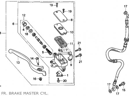 Honda Cb750 Nighthawk 1991 Usa Fr  Brake Master Cyl
