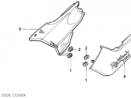 Honda Cb750 Nighthawk 1991 Usa Side Cover