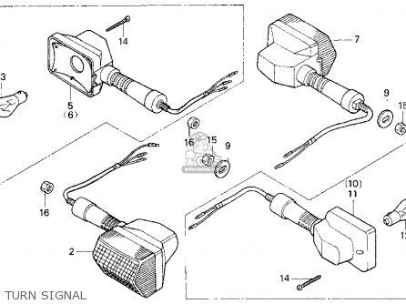 Honda Cb750 Nighthawk 1991 Usa Turn Signal