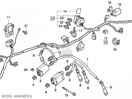 Honda Cb750 Nighthawk 1991 Usa Wire Harness