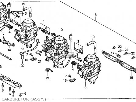 Honda Cb750 Nighthawk 1992 Canada   Mkh Carburetor assy