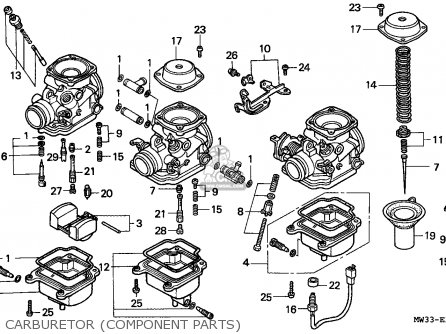 Honda Cb750 Nighthawk 1992 Canada   Mkh Carburetor component Parts