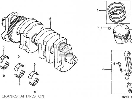Honda Cb750 Nighthawk 1992 Canada   Mkh Crankshaft piston