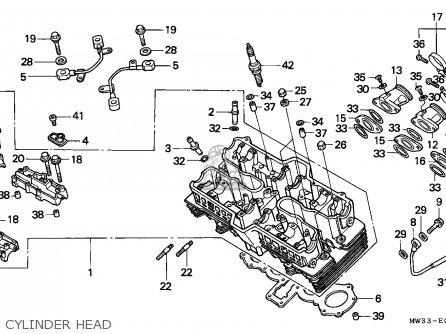 Honda Cb750 Nighthawk 1992 Canada   Mkh Cylinder Head