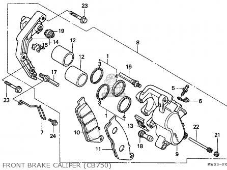 Honda Cb750 Nighthawk 1992 Canada   Mkh Front Brake Caliper cb750