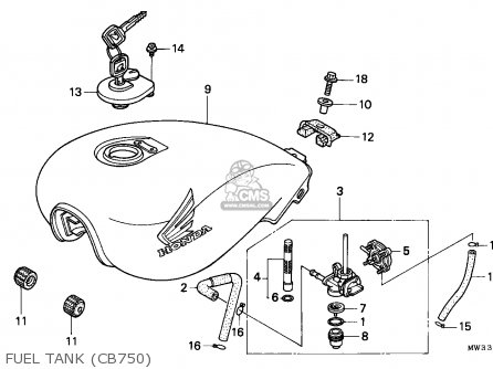 Honda Cb750 Nighthawk 1992 Canada   Mkh Fuel Tank cb750