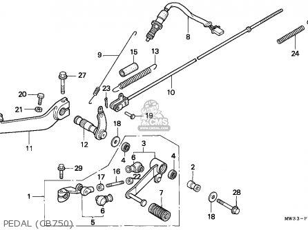 Honda Cb750 Nighthawk 1992 Canada   Mkh Pedal cb750
