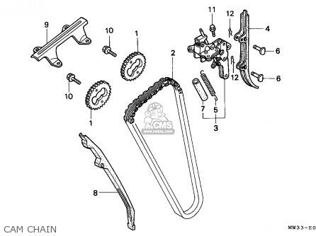 Honda Cb750 Nighthawk 1992 n Canada   Mkh Cam Chain