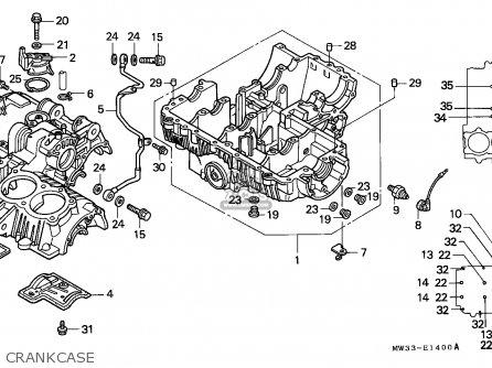 Honda Cb750 Nighthawk 1992 n Canada   Mkh Crankcase