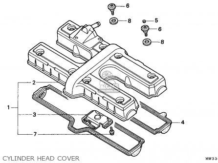 Honda Cb750 Nighthawk 1992 n Canada   Mkh Cylinder Head Cover