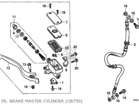 Honda Cb750 Nighthawk 1992 n Canada   Mkh Fr  Brake Master Cylinder cb750