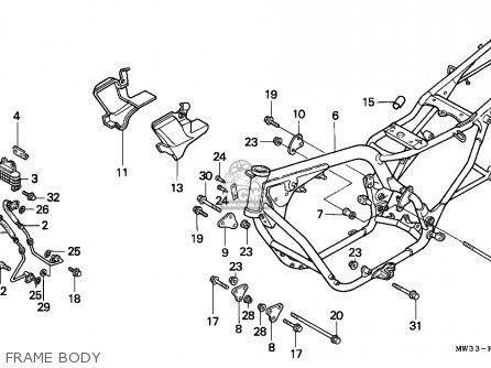 Honda Cb750 Nighthawk 1992 n Canada   Mkh Frame Body