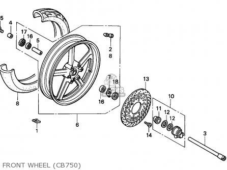 Honda Cb750 Nighthawk 1992 n Canada   Mkh Front Wheel cb750