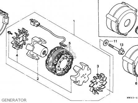 Honda Cb750 Nighthawk 1992 n Canada   Mkh Generator