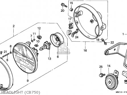 Honda Cb750 Nighthawk 1992 n Canada   Mkh Headlight cb750