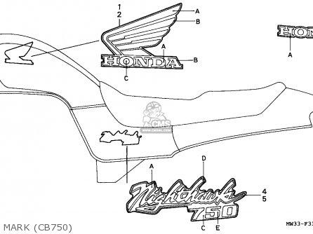 Honda Cb750 Nighthawk 1992 n Canada   Mkh Mark cb750