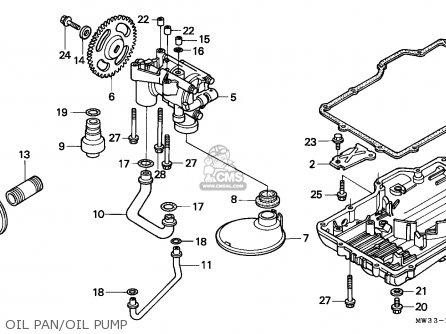 Honda Cb750 Nighthawk 1992 n Canada   Mkh Oil Pan oil Pump