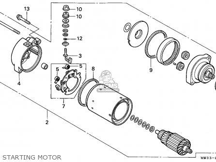 Honda Cb750 Nighthawk 1992 n Canada   Mkh Starting Motor