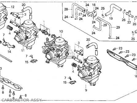 honda cb750 nighthawk 1992  n  usa parts list partsmanual