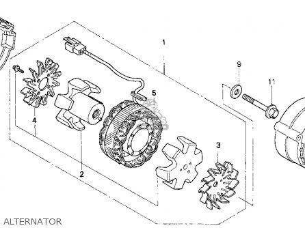 honda cb750 nighthawk 1993  p  usa parts list partsmanual