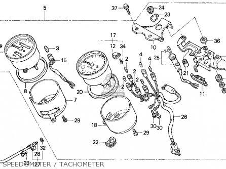 honda cb750 nighthawk 1993 p usa parts lists and schematics Honda 20Hp Outboard Wiring Diagram speedometer tachometer