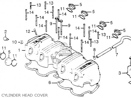 Honda Cb750a 750 Hondamatic 1976 Usa Cylinder Head Cover
