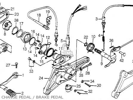 Honda Cb A Hondamatic Usa Change Pedalbrake Pedal Mediumhu F B Ed