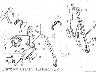 honda cb750c 1981 (b) canada parts lists and schematicse 4 cam chain tensioner