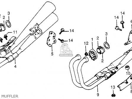 Honda Cb750c 750 Custom 1981 B Usa Parts Lists And Schematics