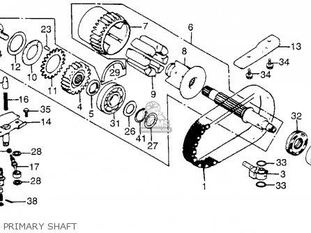 honda cb750c 750 custom 1981  b  usa parts list