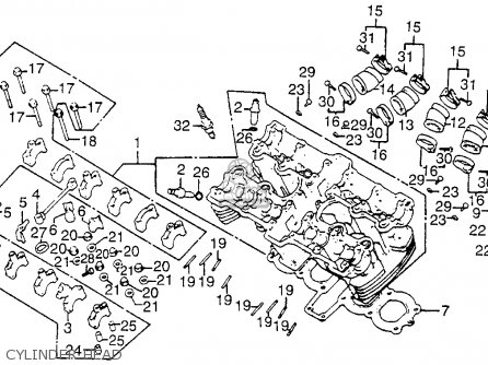 1982 Honda Cb750 Parts Diagram