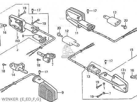 Partslist also Partslist also Honda Xl250s 1979 Usa Parts Lists also Honda Gl500i Silver Wing Interstate 1981 Usa Headlight Gl500i moreover Partslist. on cb750 air filter