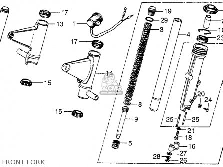 Honda Cb750f 750 Super Sport 1977 Usa Handle Lever Switch Cable